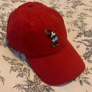 Women's Disney Red Minnie Mouse Baseball Hat